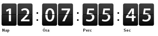JavaScript alapú visszaszámláló határidős landing oldalra